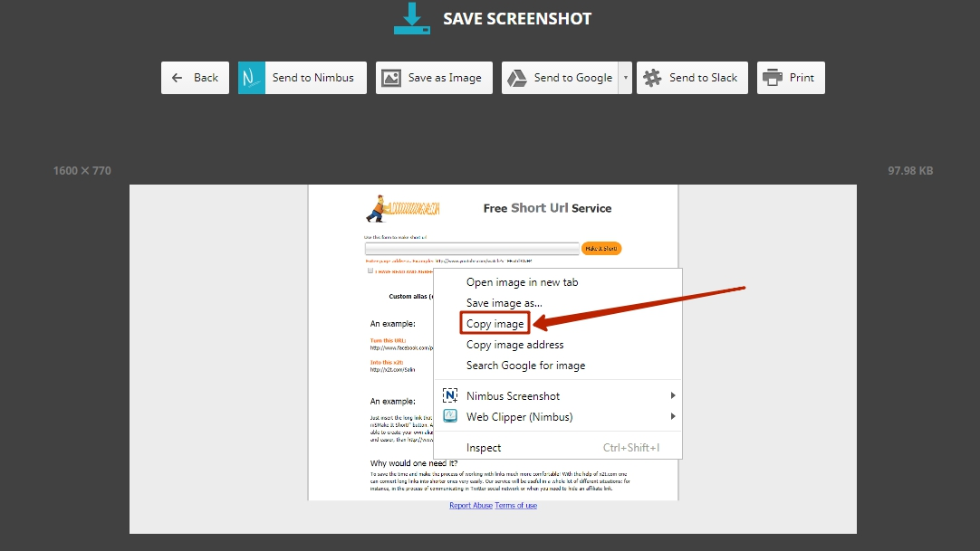 Nimbus Web Inc | Nimbus ScreenShot - Quick Guide